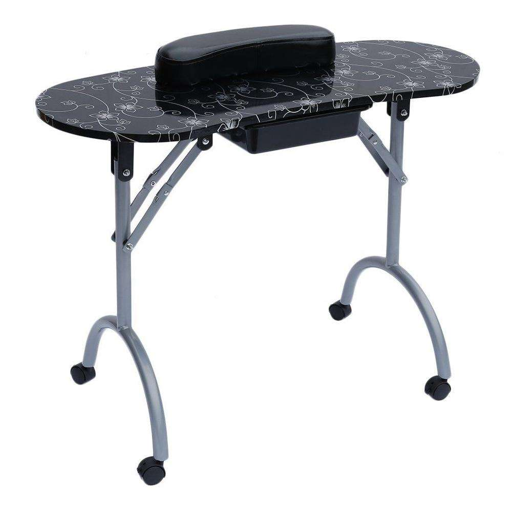 portable nail table foldable manicure table with ABS drawer