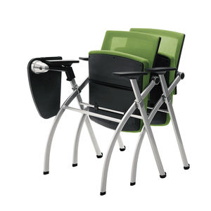 HUASHI Adjustable Backrest Classroom School Folding Study Student Chair With Writing Pad