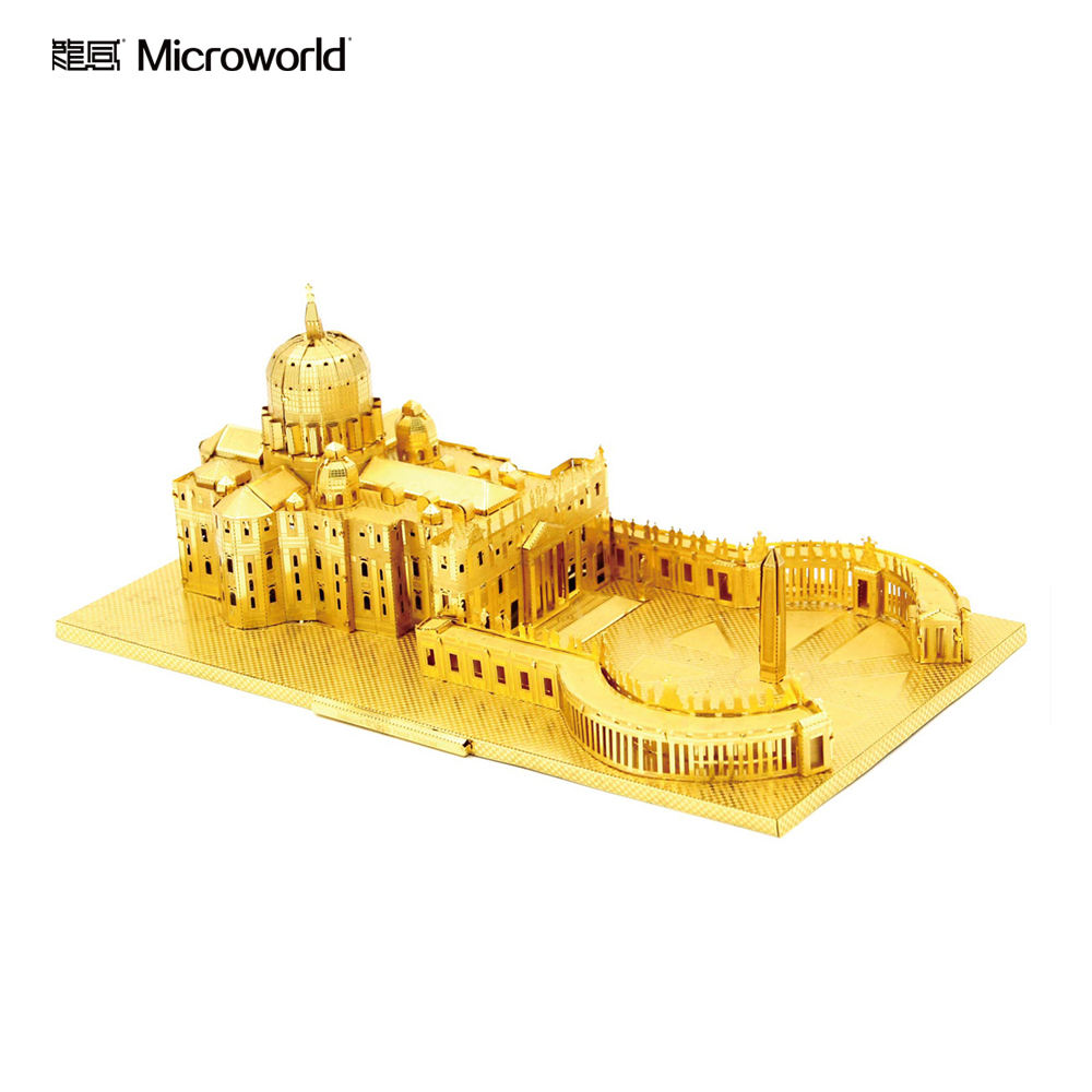 St. Peter's Basilica Metal 3D Building Jigsaw Puzzle World Famous Landmark Castle and Church Puzzle