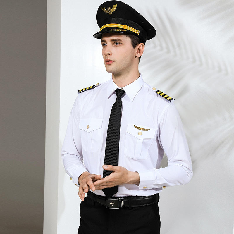 Customized High quality pilot and air military shirt uniform for Airline flight