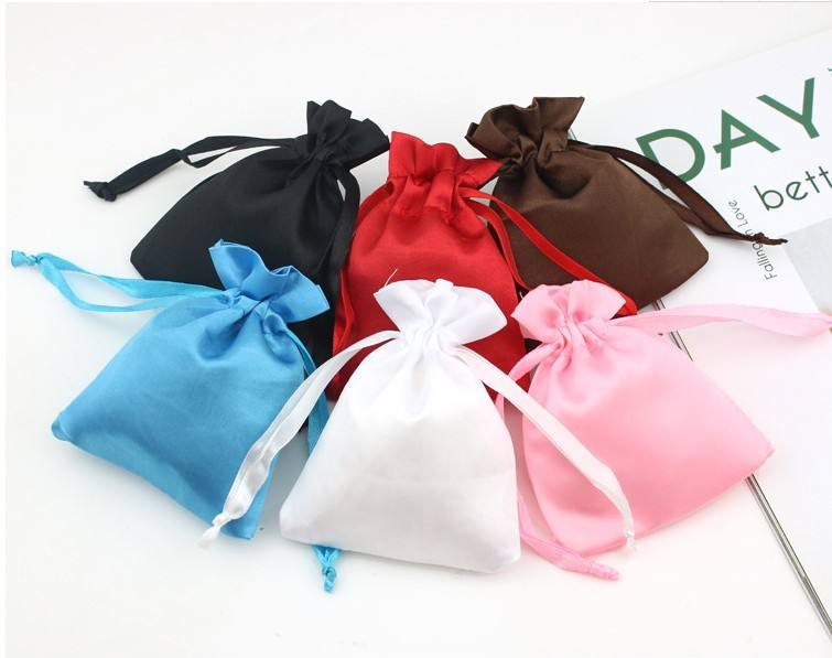 Eco-friendly mini organic draw string pouch natural satin muslin cloth drawstring nut bags with custom logo