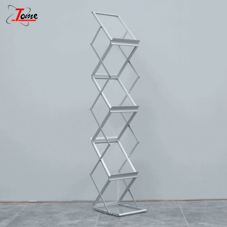 A4 Stand Folding Magazine Display Stand Message Shelf