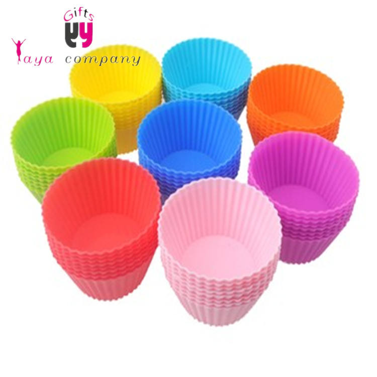 Nonstick Easy Clean Reusable Cupcake Liners Muffin Cups Silicone Cake Baking Cups