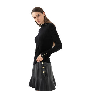 Short spring high waist casual mini PU leather skirt women for ladies