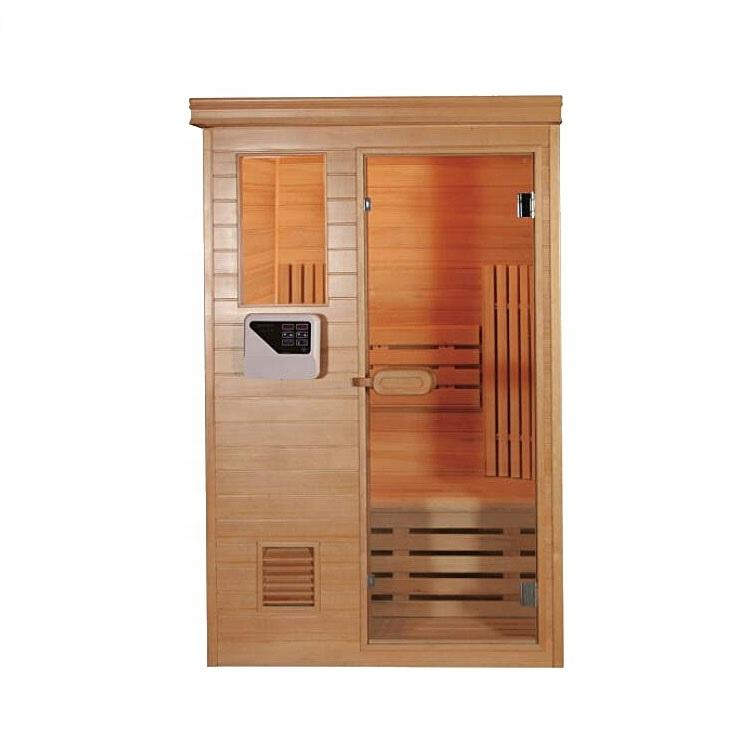 Home use 1-2 person wooden mini sauna room furniture