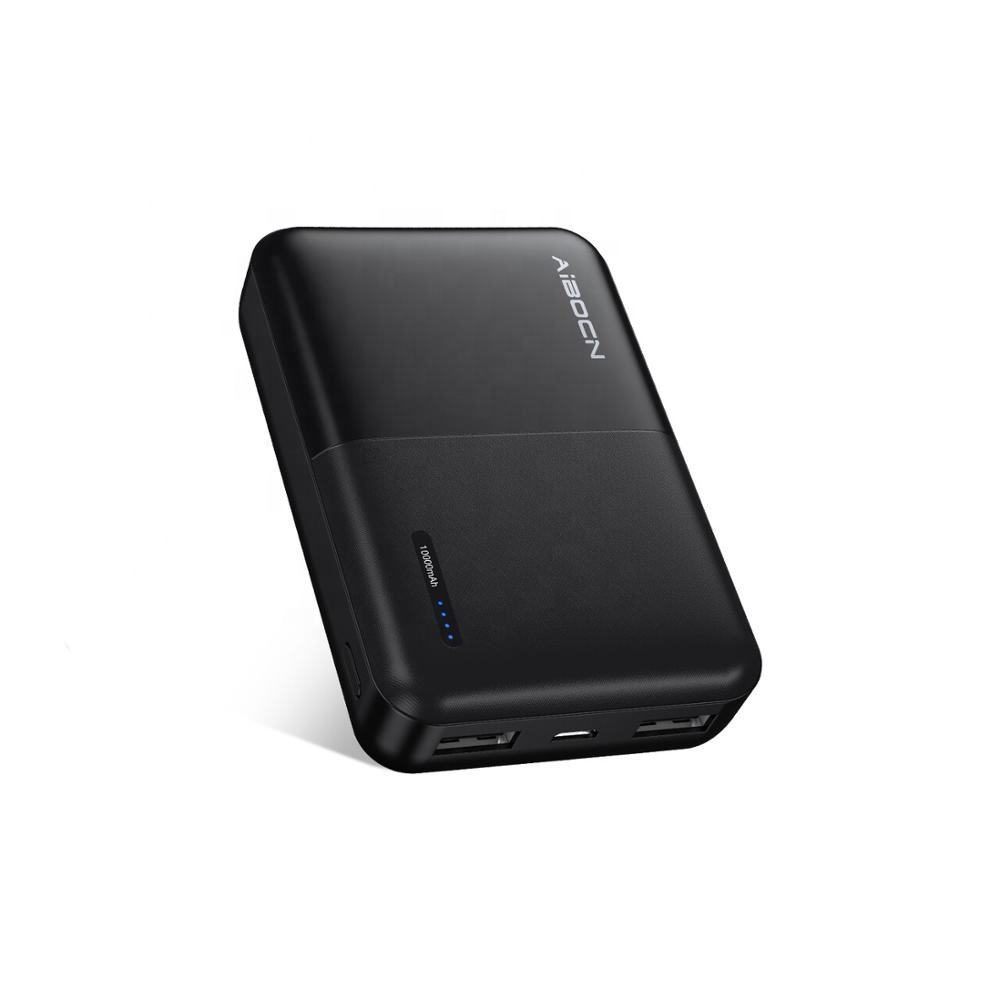 Aibocn new Ultra-Mini 10000mah Portable Power Bank Charger For iPhone/iPad/Samsung Galaxy