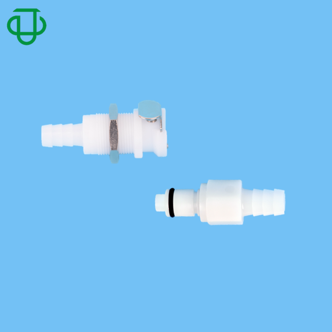 JU Acetal Tube Barbed Plastic Quick Connect Disconnect Coupling Connector
