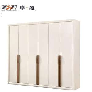 Modern home furniture fashion design luxury bedroom furniture wardrobe with solid wood frame