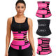 Oem Custom Private Label Waist Tummy Control Double Belt 7 Steel Bone Latex Waist Trainer Corset