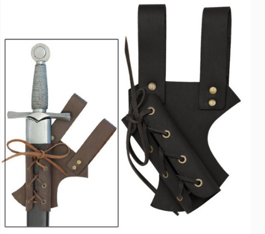 Leather Halloween Toy Weapons Medieval Sword Sheath Refinement