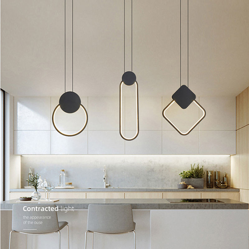 Suspension Lighting Ball Pendant Lamps decorative modern drop light LED black pendant lights