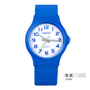 Analog waterproof sports fancy wrist watch plastic cases for kids