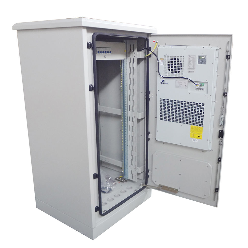42U Server rack IP65/IP55 outdoor telecom cabinet with cooling system