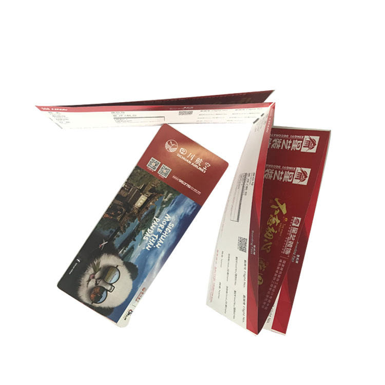 Thermal Boarding Pass Paper thermal flight ticket custom
