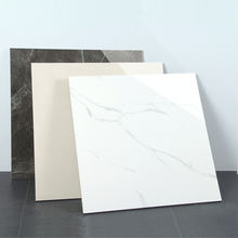 European and American quality stand factory non-slip  600*600mm white marble tiles polished porcelain tile glazed floor tile