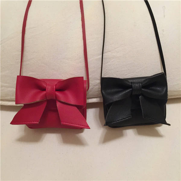Christmas Girl Coin Purse and Handbag Children Wallet PU Leather Bow Shoulder Bag Baby Messenger Bags