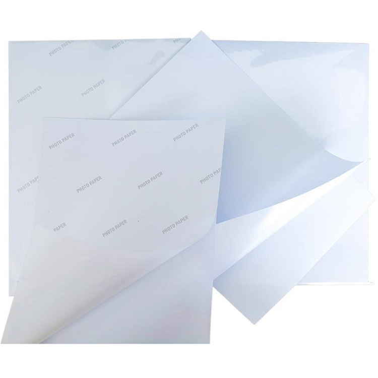 Guangzhou yuhan paper cast coated paper 150G A4 size high glossy self-adhesive sticker inkjet photo paper