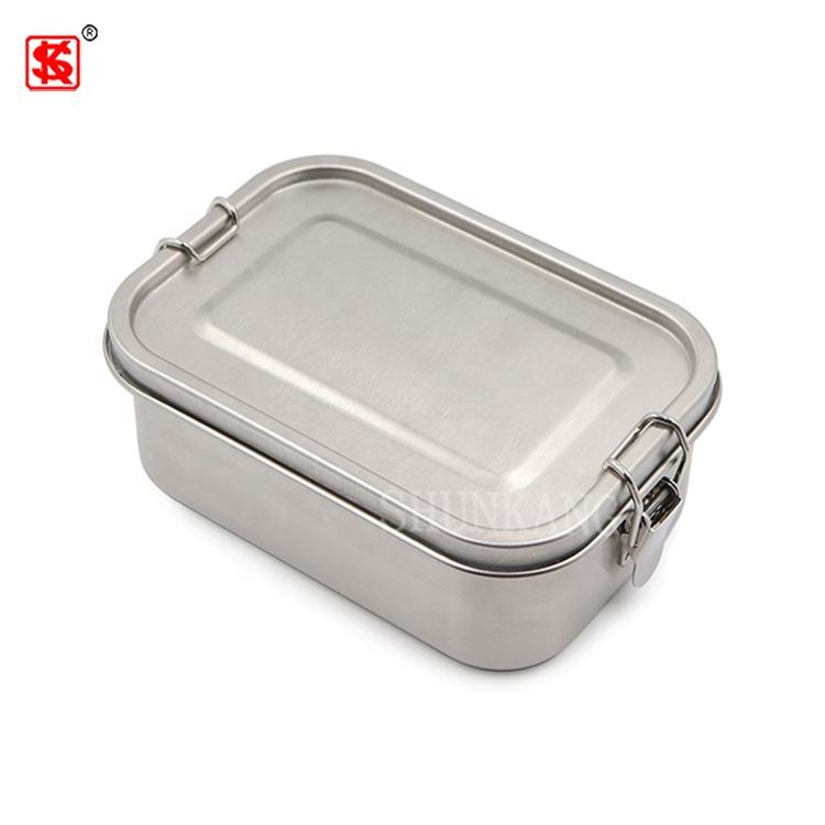 Edelstahl Brotdose Rectangle metal 304 Stainless Steel kids lunch box leakproof tiffin bento box with compartment