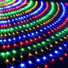 Waterproof outdoor garland Using Festival Net String light LED Mesh Fairy Decorative Lights