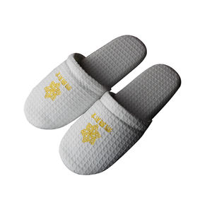 2020 hot selling disposable white cotton slippers home hotel slipper