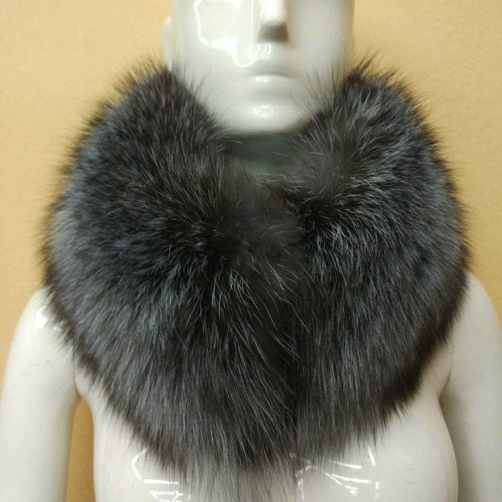 Fashion 100% Real Fox Big Fur Collar For Hooded Coat Fur Trim For Coat