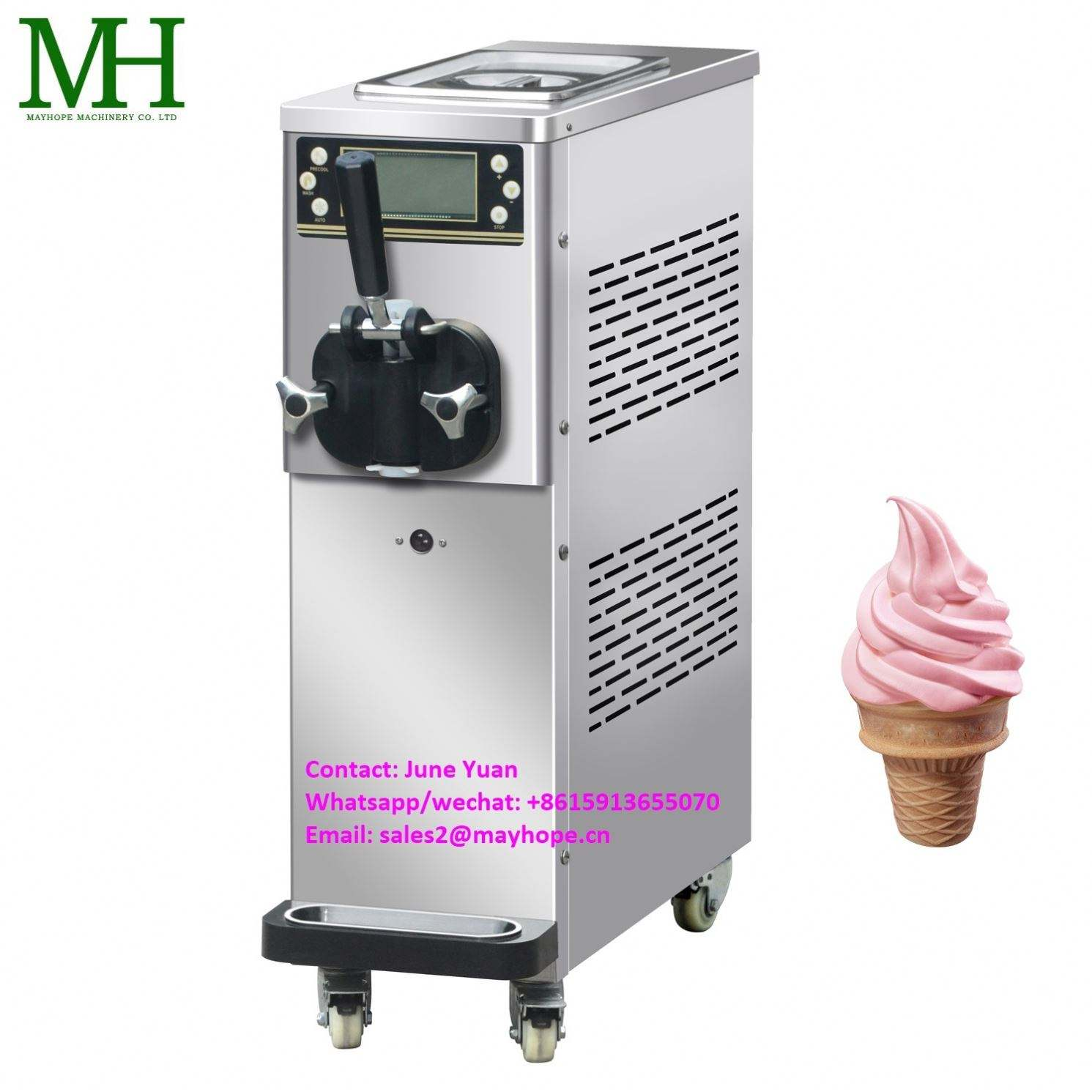Industrial Automatic Desktop Frozen Yogurt Ice Cream Maker Machine for Sale