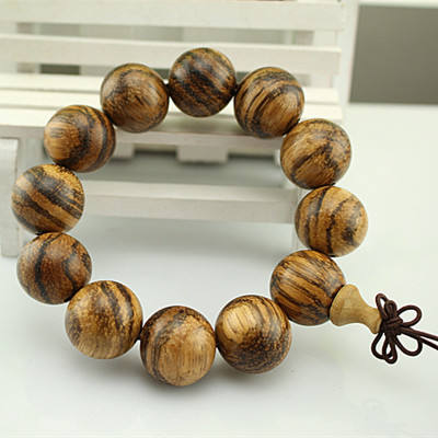 Factory direct Vietnam agarwood buddha bead bracelet wood business gift gear zhuhu skin gents bracelet