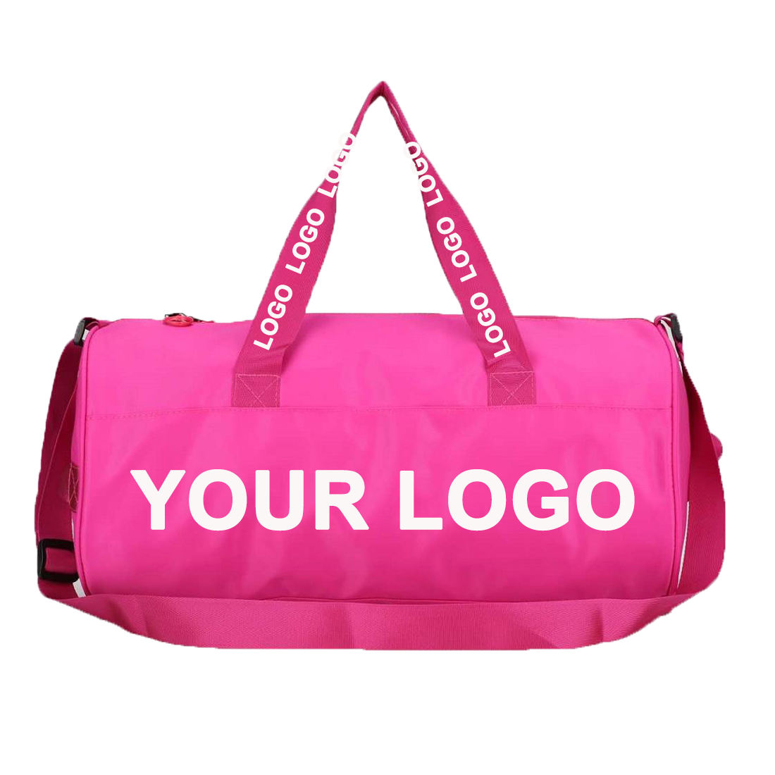 OEM ODM Factory 15 years Custom 2020 Fashion Most Attractive Waterproof Heavy Duty Rolling Pink Nylon Bag Duffle Traveling Bag