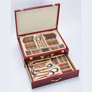China Factory Stainless Steel Cutley Set 84pcs 72pcs 103pcs Gold Cutlery Set