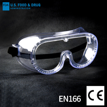 FDA Safety Glasses CE EN 166 Certificate PC Lens PVC frame anti fog Personal Protective Equipment Glasses Fully enclose eyewear