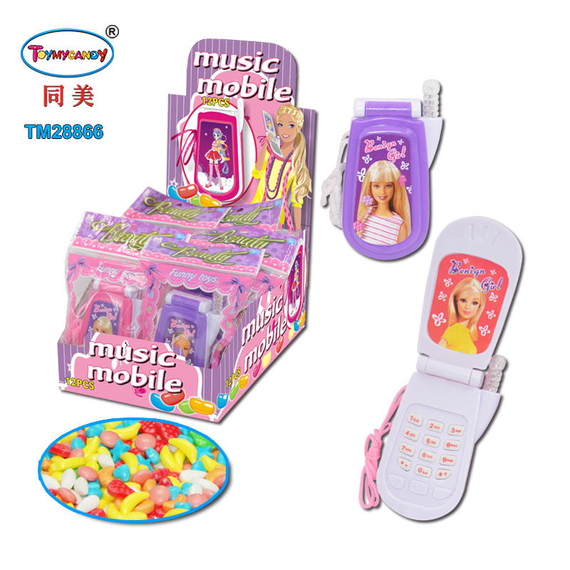 2020 new Calling music talking mobile phone lighting telephone toy with sweet candy