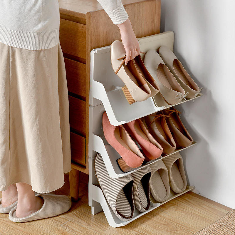 Shoe Rack 2 3 4 Tier Stackable Modern Holder Sale Storage Display Organizer Shelf Stand Online Plastic Shoe Racks For Home