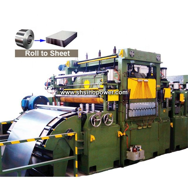 Automatic metal cut to length line for galvanized hr cr ss steel sheet with high speed to straighten steel coil