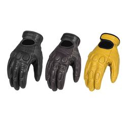 Motorcycle Genuine Leather Mittens Men's Full Finger Goat Skin Touch Screen  Protective For Riding, Climbing, Hiking