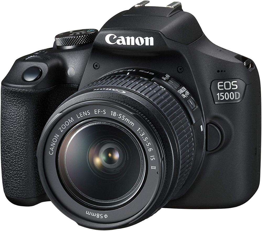 Canon EOS 1500D Digital SLR Camera with EF-S 18-55mm f/3.5-5.6 IS II Lens (Rebel T7 DSLR Camera)