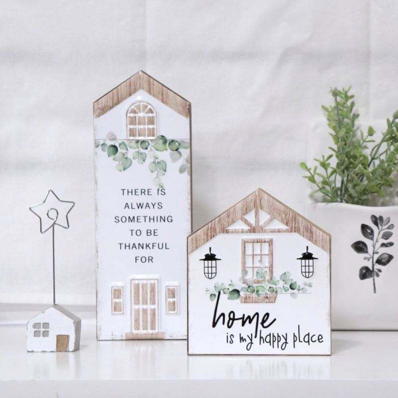 Factory Direct Supply Home Decor Wood Plank Rustic Farmhouse Metal Wooden Sign Ornament
