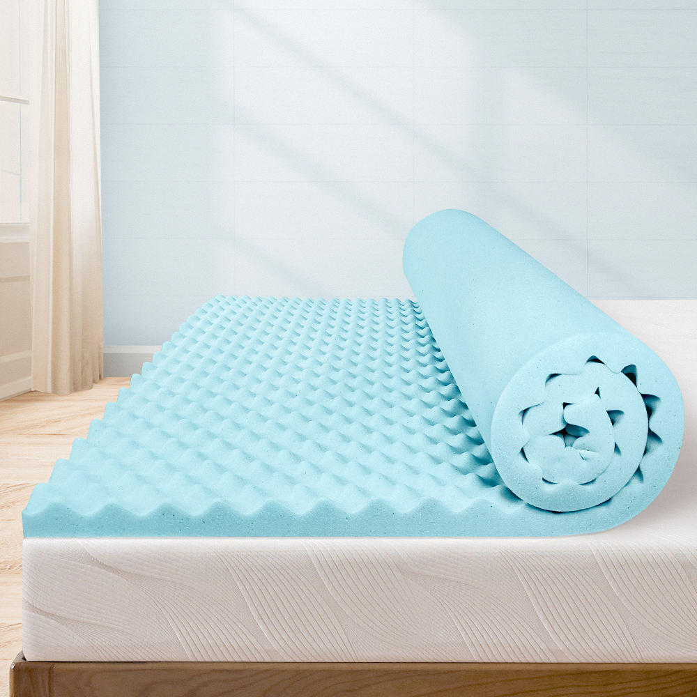 Milemont 1.5 zoll Mattress Topper, Egg Crate Design Gel Swirl Memory Foam Bed Topper für Pressure Relief Twin Size