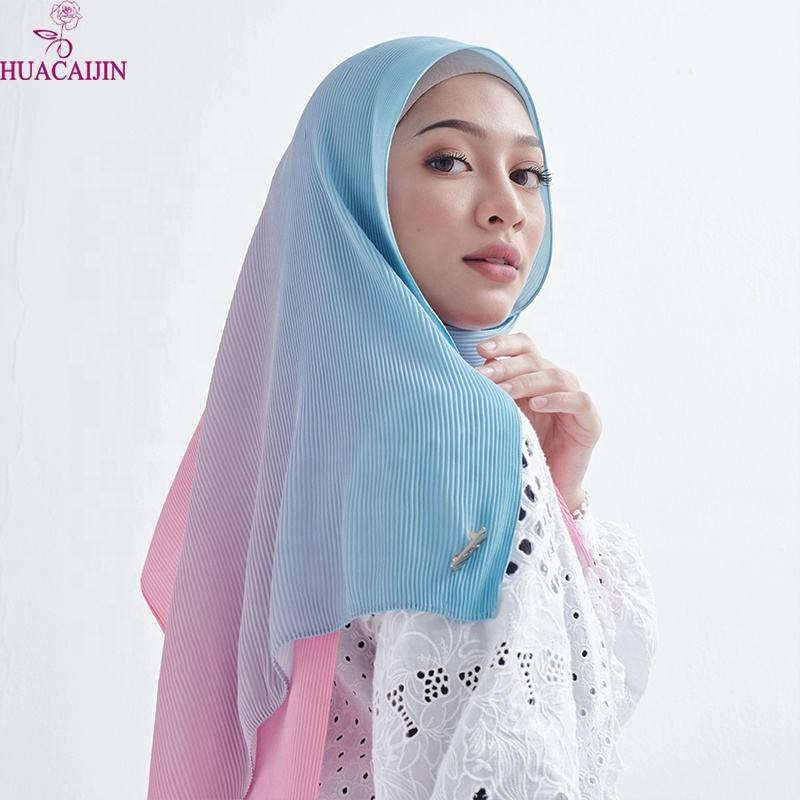 Fast-Sellingmuslim Hijablovers Printed Foulared Scarf Shawl New Cotton Pleated Fully Crushed Silk Cotton Foulard Hijab