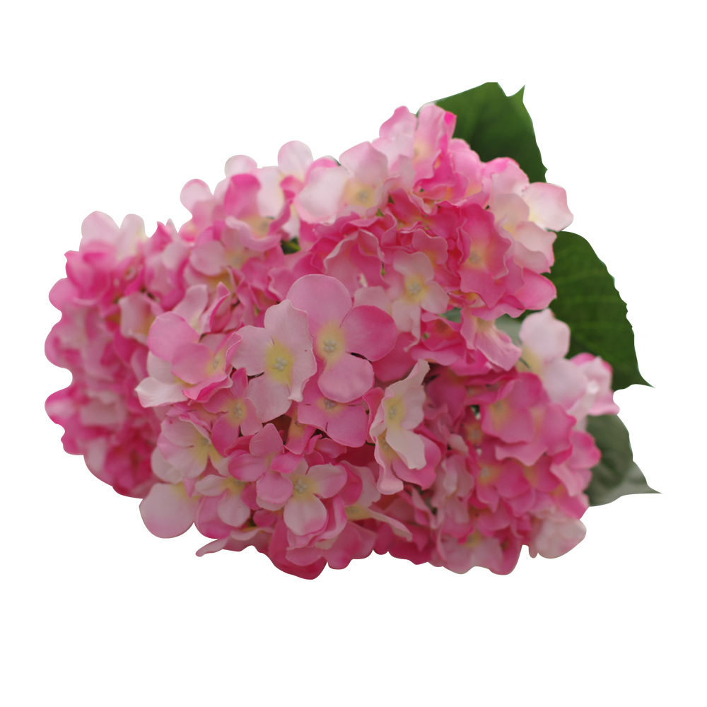 Artificial silk hydrangea bouquet for wedding decoration