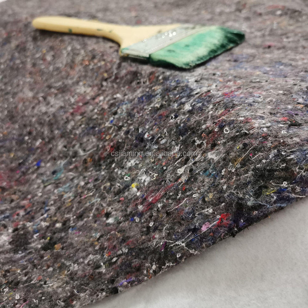 Changshu cheap recycled car fabric felt polyester film felt mat underlay painting felt