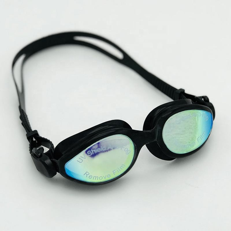Professionele Zwembril Mirrored Lens Zwarte Rok Adult Swim