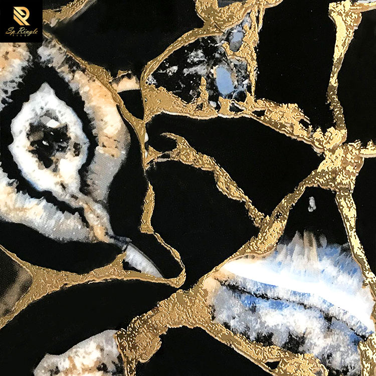 SP Ringle 60 X 120 Floor 600x1200 Bathroom Black And Gold Tiger Eye Agate Stone Golden Italian 3d Tiles Ceramic Wall