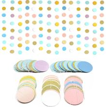 Birthday Party Supplies Paper Circle Dots Garland Colorful Hanging Banner Paper for Birthday Party Streamers Wedding Decor