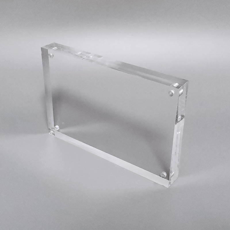 4X6 Picture Frame Holder Clear Acrylic Magnet Photo Frame Block