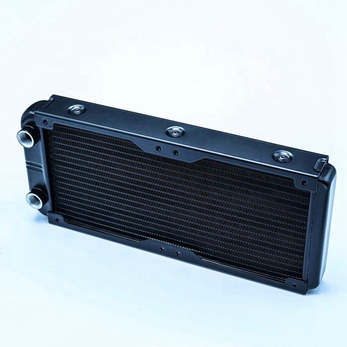 G1/4 18 Tabung 240 Mm Aluminium Radiator Komputer Pendingin Air untuk PC CPU Heatsink