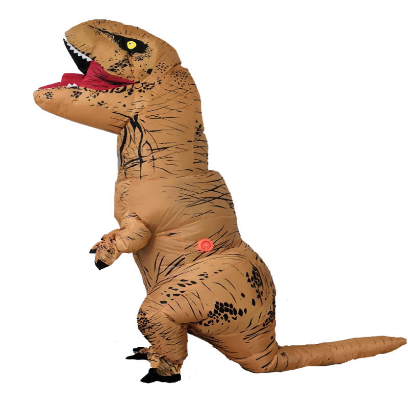 Großhandel lustiges Kostüm aufblasbares Halloween Deluxe Air Blown Up Walking T-REX Dinosaurier Kostüm