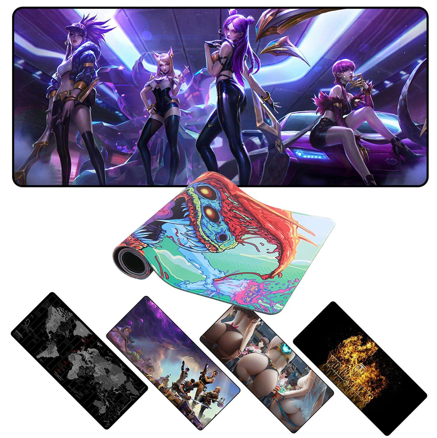 Custom large gaming mouse pad