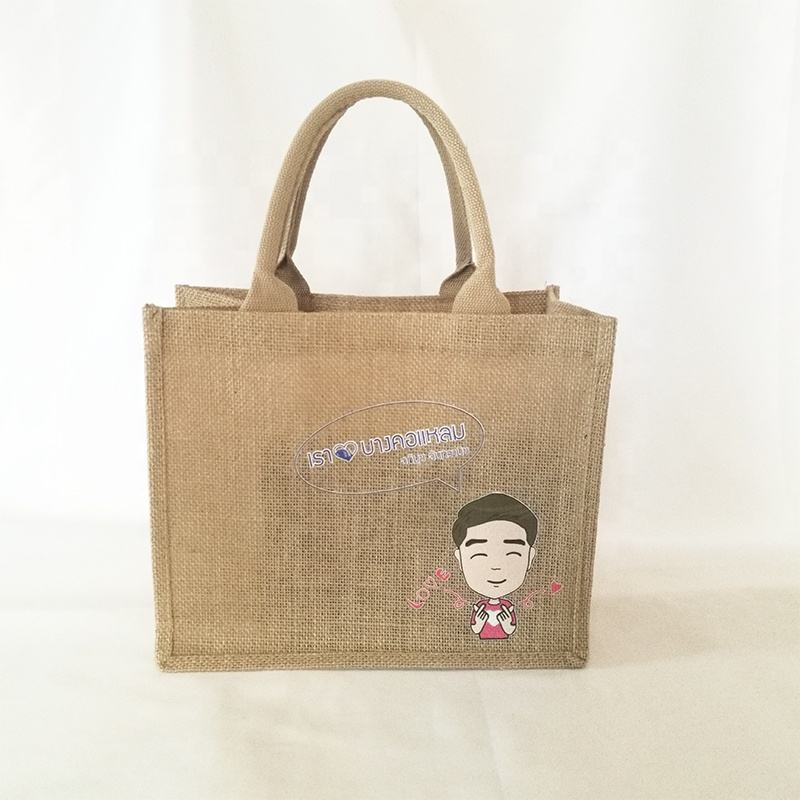 Wholesales Unisex Recyclable Jute Bag Tote Hessian Jute Bag Bangladesh