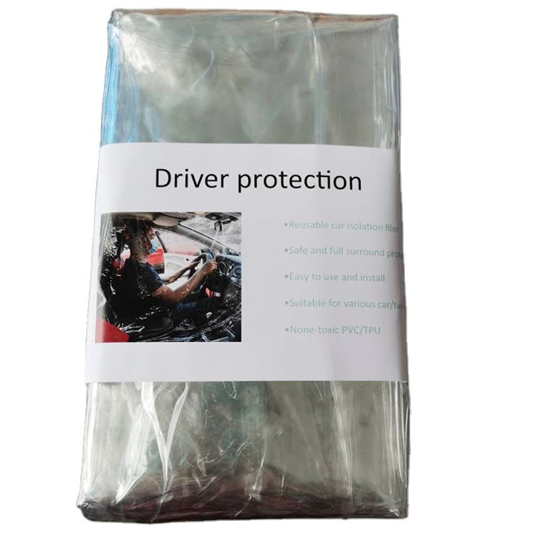 Transparent Pvc Screen Full Self Back seat Cover Curtain Surround Divider Automobile Taxi Driver Protection Car Isolation Film