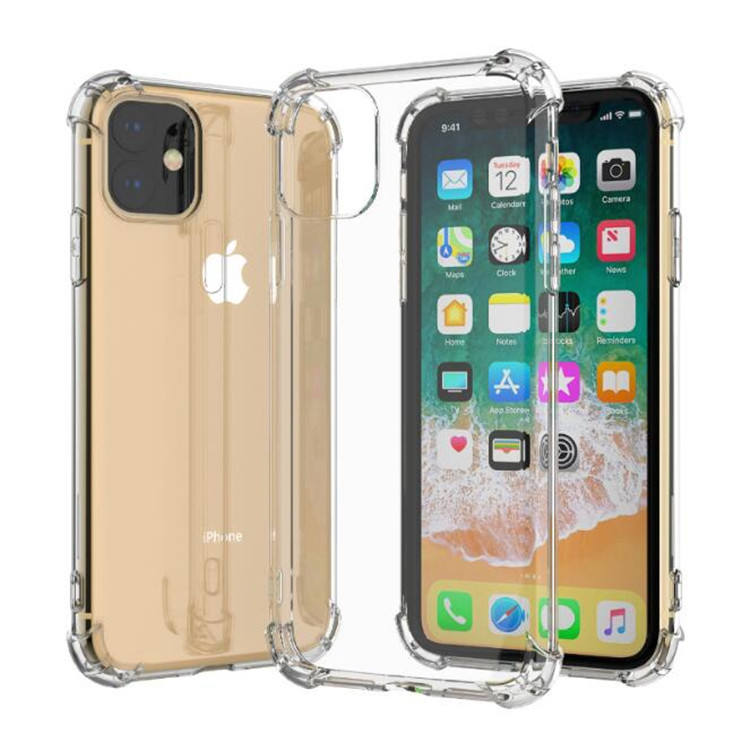 Groothandel Transparant Clear Zachte Tpu Shockproof Mobiele Telefoon Cover Voor Iphone X Xs Max Xr 2019 11 Pro Case